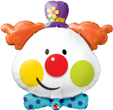 Cute Clown Super Shape Foil Balloon